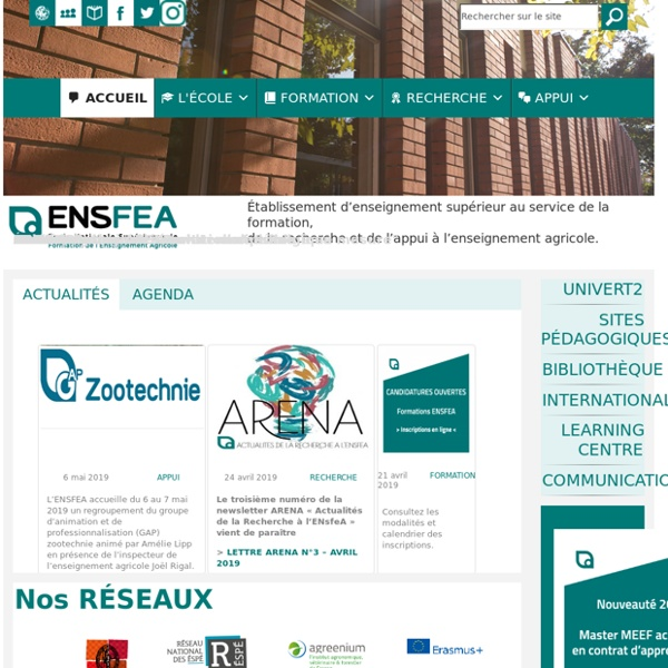 ENFA » Ecole Nationale de Formation Agronomique