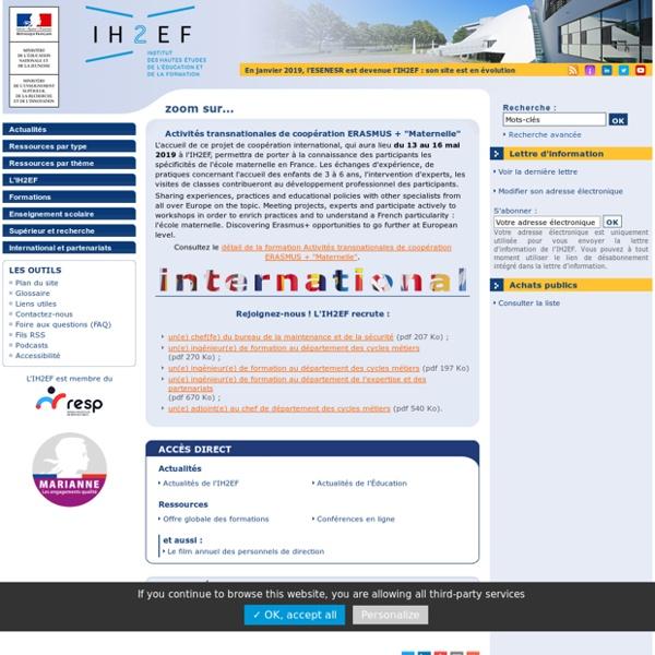 École supérieure de l'éducation nationale, de l'enseignement supérieur et de la recherche (ESENESR)