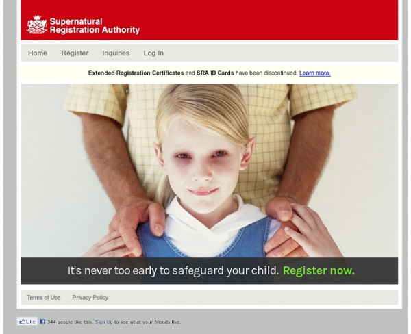 Supernatural Registration Authority