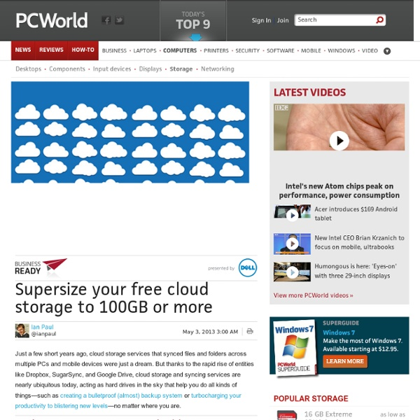 Supersize your free cloud storage to 100GB or more