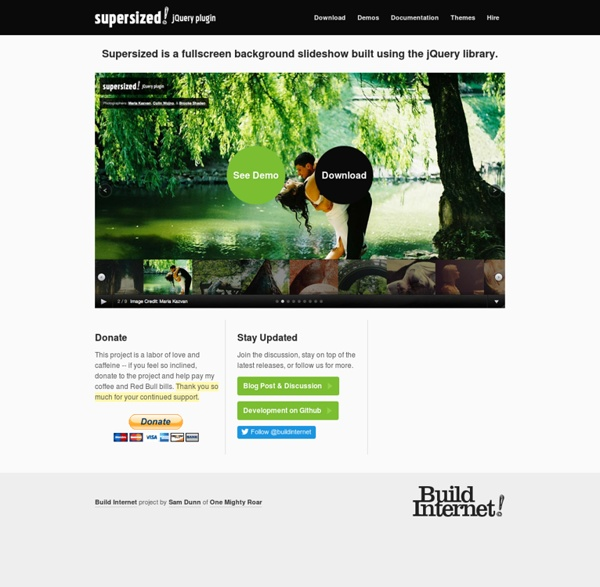Supersized - Full Screen Background Slideshow jQuery Plugin