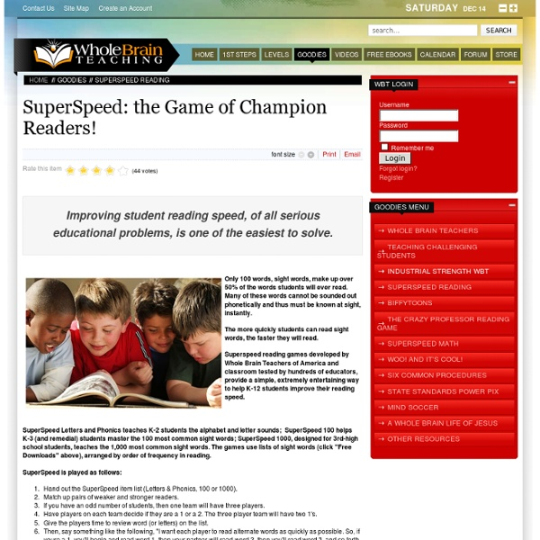 SuperSpeed: Game of Champ Readers!