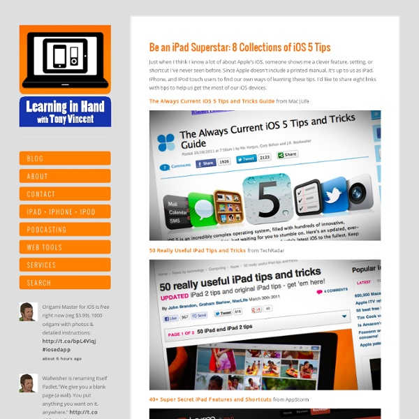 Be an iPad Superstar: 8 Collections of iOS 5Tips