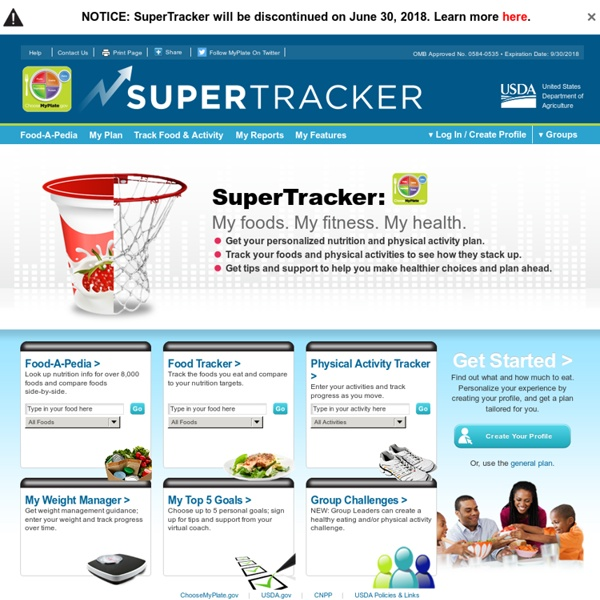 Le site de SuperTracker.