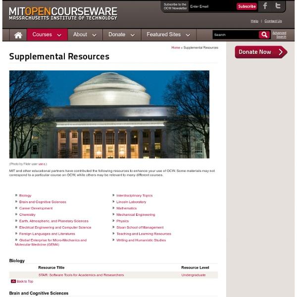 Supplemental Resources