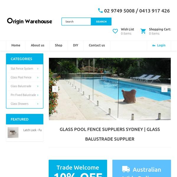 Glass Pool Fence Wholesale Sydney - originwarehouse.com.au
