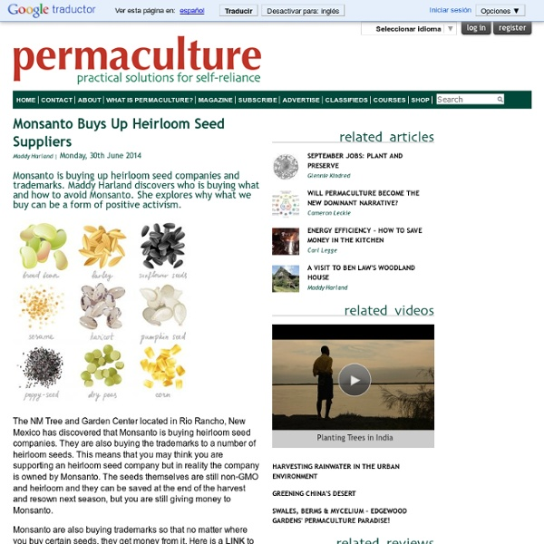 Monsanto Buys Up Heirloom Seed Suppliers