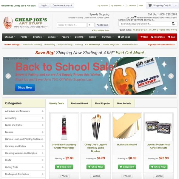 Art Supplies, Craft Supplies, Artist Resources