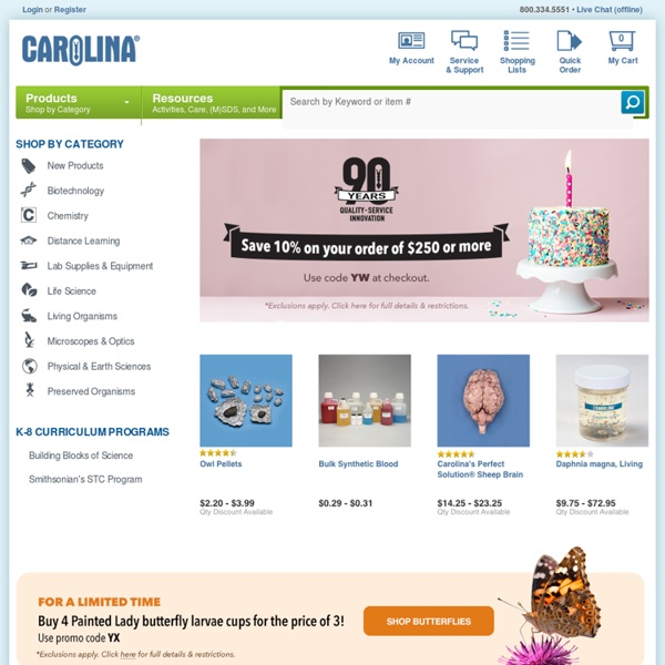 Carolina Biological Supply: Science Supplies, AP Kits, Chemistry Supplies, Microscopes