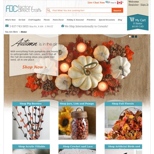 Craft Supplies & Wedding Supplies - Factory Direct Craft