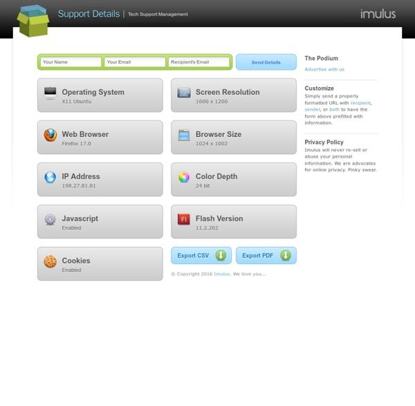 Tech Support Management