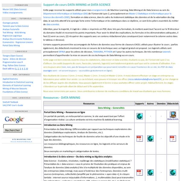 Data Mining et Data Science