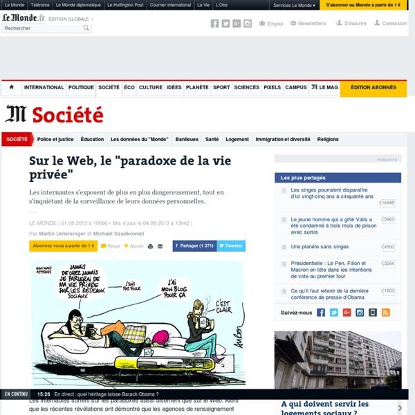 """Sur le Web, le """"paradoxe de la vie privée"""""""