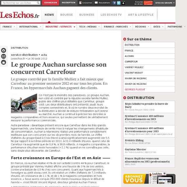 Le groupe Auchan surclasse son concurrent Carrefour