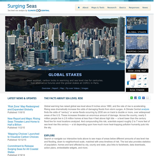 Surging Seas: Sea level rise analysis by Climate Central