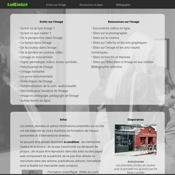 Plan du site Surlimage