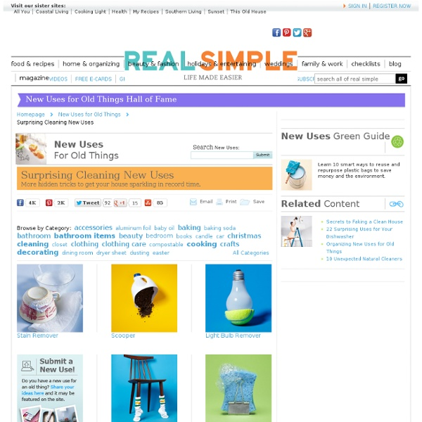 Surprising Cleaning New Uses - Real Simple