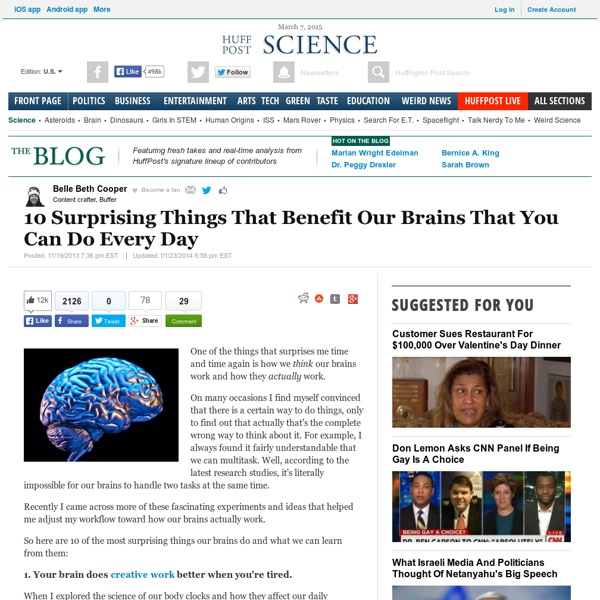10 Surprising Things That Benefit Our Brains That You Can Do Every Day