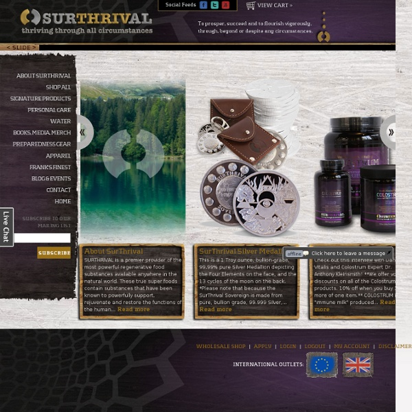 SurThrival Quality Supplements, Unique Gear, & Heirloom Seeds