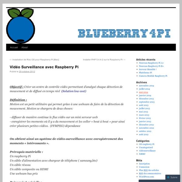Vidéo Surveillance avec Raspberry Pi