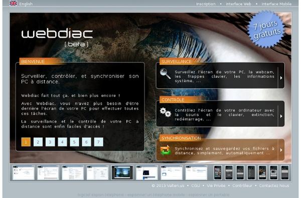 Surveillance, contrôle et synchronisation de PC à distance - Webdiac