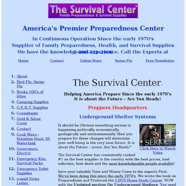 Survival Center, Survival Supplies, Survival Food, Survival Center.com