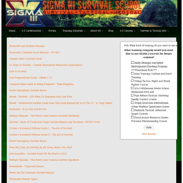 Survival School Survival Library PDF's - Survival School