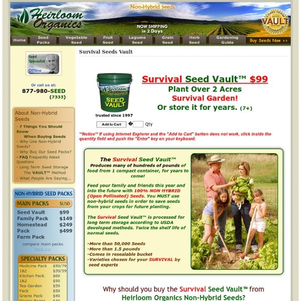 Survival Seeds Vault