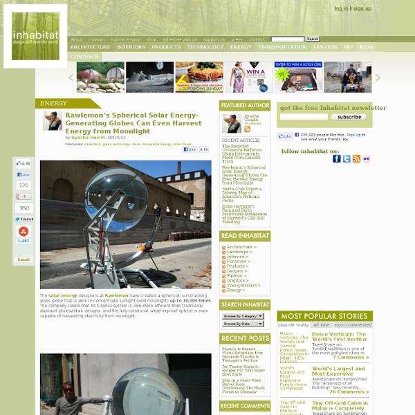 Rawlemon's Spherical Solar Energy-Generating Globes Can Even Harvest Energy from Moonlight