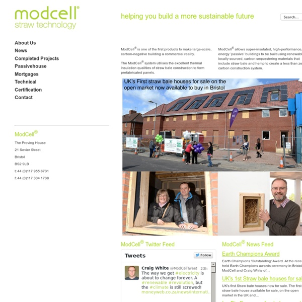 ModCell - Sustainable pre-fab Straw Bale Panel Construction