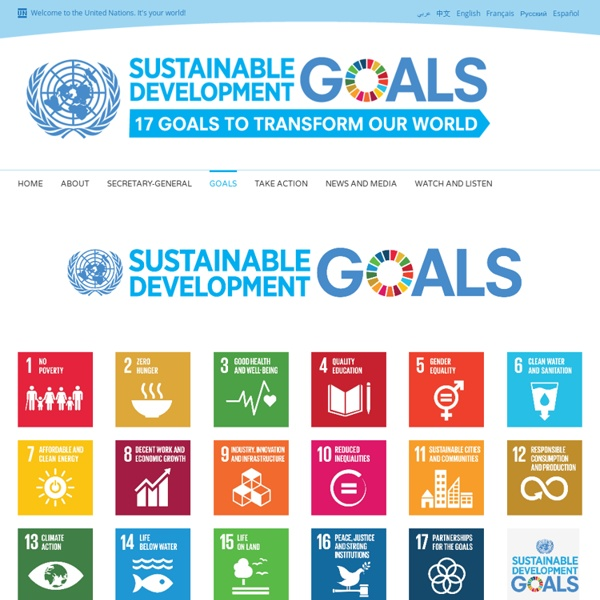 Sustainable development goals - United Nations