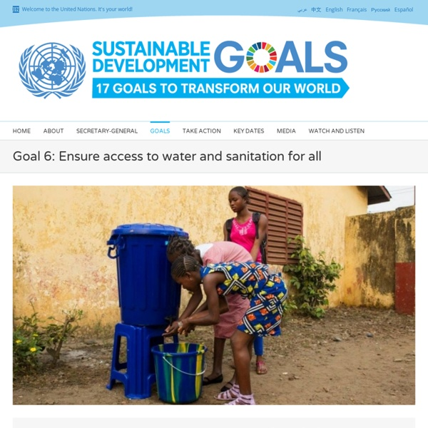 Water and Sanitation - United Nations Sustainable Development