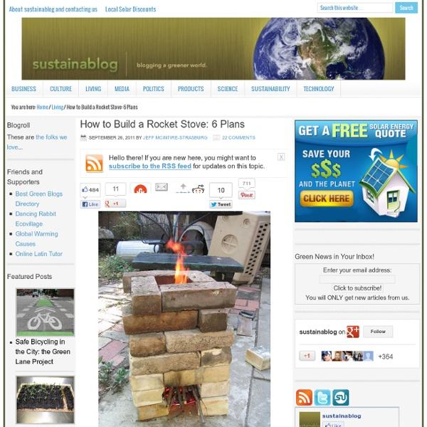 Jeff McIntire-Strasburg has been blogging a greener world via sustainablog since 2003!