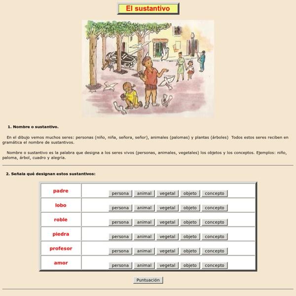 El sustantivo, gramatica, Lengua española de Aplicaciones Didácticas, nombre, sustantivo, común, propio, concreto, abstracto, individual, colectivo