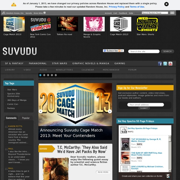 Suvudu - Science Fiction and Fantasy Books, Movies, Comics, and Games