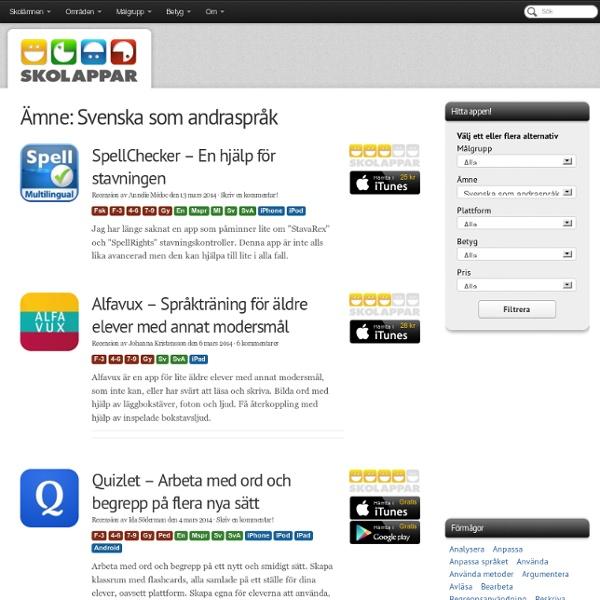 Appar: Svenska som andraspråk