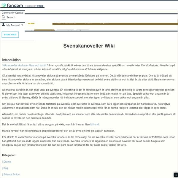 Svenskanoveller Wiki
