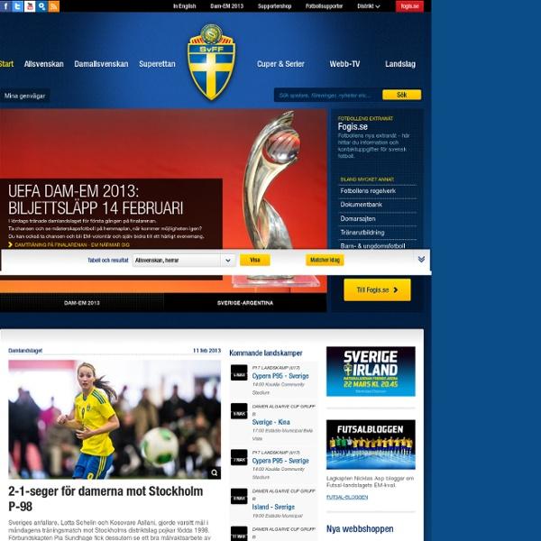 Svenskfotboll.se — Allt om svensk fotboll, landslag, Allsvenskan, Superettan, Damallsvenskan
