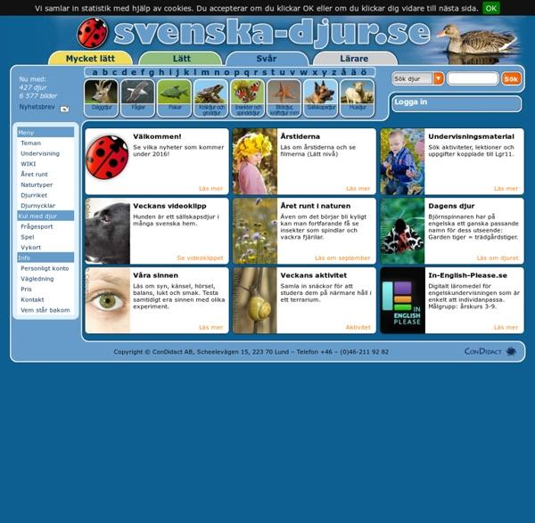 Sveriges bästa webbplats om djur