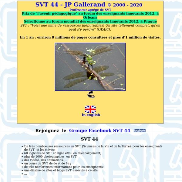 Svt - 44 - JP Gallerand - Sciences de la vie et de la terre - svt 44