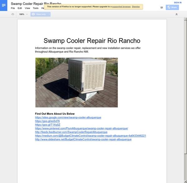Swamp Cooler Repair Rio Rancho
