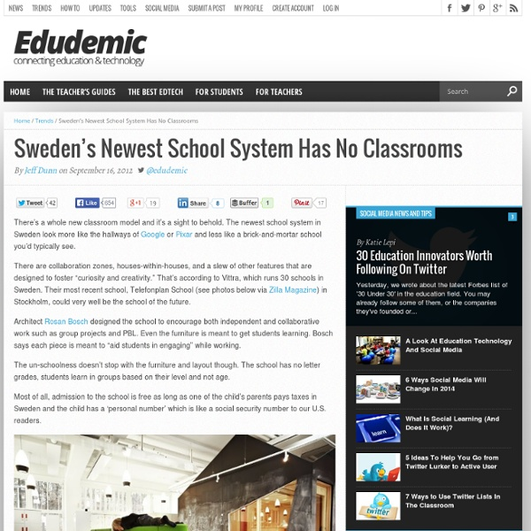 Sweden's Newest School System Has No Classrooms