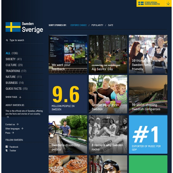 The official site of Sweden