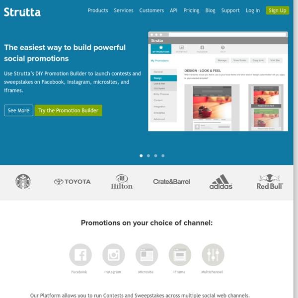 Social Promotions Platform – Strutta