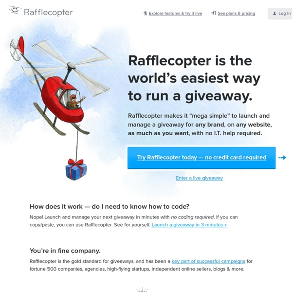 Run Giveaway & Sweepstakes Promotions