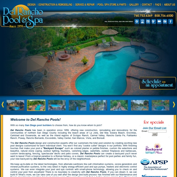 Swimming Pool Builders in San Diego and Carlsbad - Del Rancho Pool and Spa