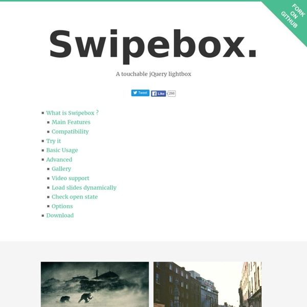 A touchable jQuery lightbox