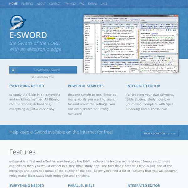 E-Sword - the Sword of the LORD with an electronic edge