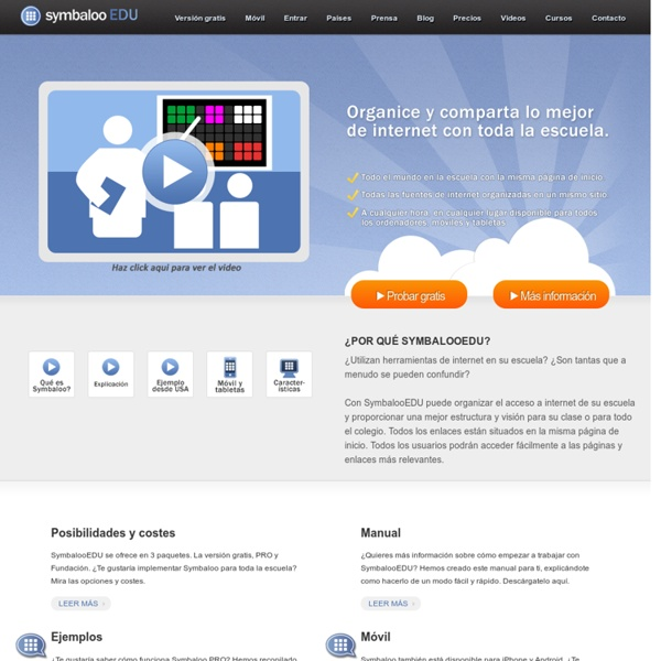 Symbaloo EDU Español - Educacion virtual - que escuelas usan como aprendizaje personal